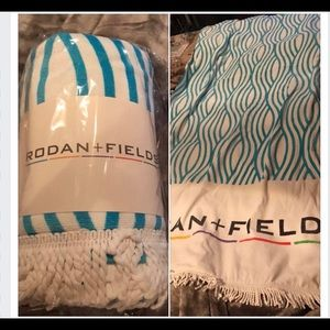 R+F branded beach towel